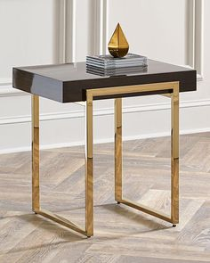 Shop Cronyn Veneer Side Table from Interlude Home at Horchow, where you'll find new lower shipping on hundreds of home furnishings and gifts. Marble Top Side Table, Marble End Tables, Metal Side Table, Gold Side Tables, Metal Tables, Gold Table, Modern Side Table, Steel Furniture, Table Furniture