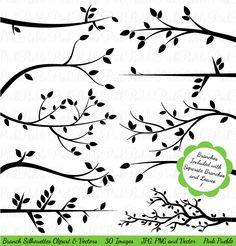 Print Candee - Branch Silhouettes Clipart