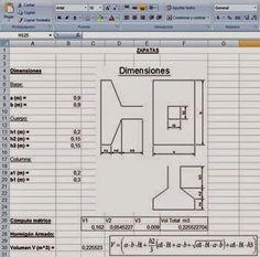 Cálculo de Cómputos métricos en fundaciones http://ht.ly/DXYBP | #HojasdeExcel #Isoluciones #SoftWare