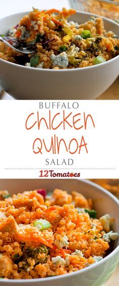 Buffalo Chicken Quinoa Salad | This hearty salad is bursting with color and flavor – it's our favorite new way to enjoy Buffalo chicken, and we bet you'll agree!