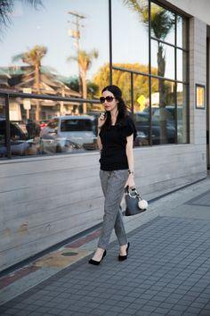 Nicole Lee black mini satchel