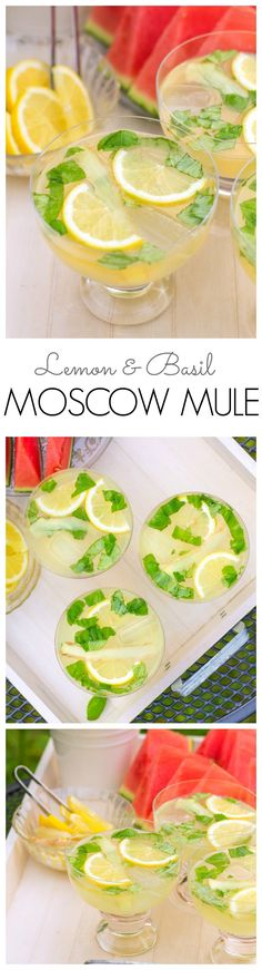 A fresh and herby Moscow Mule variation with a nicely balanced flavor of sweet and tart! The perfect drink for a late summer afternoons and mild evenings in the garden.
