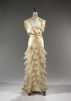 Evening dress Irene (American) Date: ca. 1935 Culture: American Medium: silk