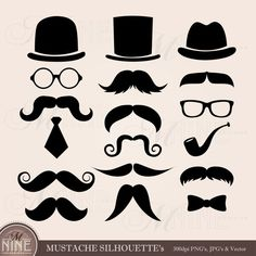 Afbeeldingsresultaat voor eyes and mouchtage Album Photo Scrapbooking, Scrapbook Albums, Digital Scrapbooking, Fourth Of July Crafts For Kids, Mustache Theme, Clipart Design, Black Silhouette, Photo Booth Props, Handmade Birthday Cards