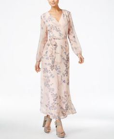 Bar III Printed Wrap Maxi Dress, Only at Macy's $89.50 Embrace your femininity in this fabulous wrap dress from Bar III.