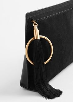Zipped leather clutch - Bags for Woman | MANGO USA