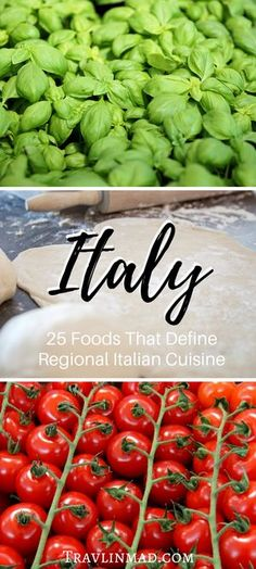 There's no greater expression of the history and culture of a place like Italy than the food, and exploring the unique regions through traditional Italian food is the most fun a foodie can have! Here are 25 must-try regional foods of Italy that'll flavor your culinary tour of bella Italia.   famous Italian foods, Italian food, Traditional Italian Food, Italy food guide, regional Italian cuisine