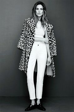 Leopard coat on Erin Wasson for frame denim spring 2014 Erin Wasson, Leopard Print Jacket, Leopard Print Coat, How To Have Style, Style Me, Classy Style, Inspiration Mode, Street Style, Frame Denim