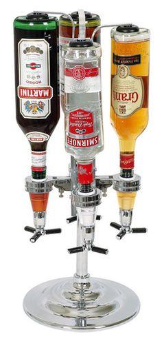 keladeco.com - #distributeur #alcool 4 bouteilles, idée cadeau deco #apero entre amis, bouteilles alcool - La chaise longue