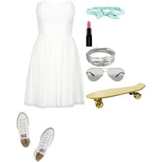 Skateboarding with him by sarapopara on Polyvore featuring Converse, Whistles, Tiffany & Co., Aéropostale, Smashbox and Seletti