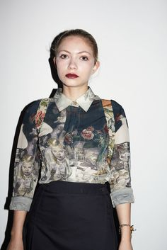 Tavi Gevinson at Rodarte, New York Fashion Week. Photo by Barbara Anastacio.