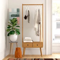 Foundstone Robin W Garment Rack Diy Furniture, Furniture Design, Industrial Furniture, Furniture Vintage, Vintage Industrial, Industrial Style, Bedroom Furniture, No Closet Solutions, Garment Racks