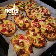 Fırında Yumuşacık Ekmek Pizza(Kahvaltılık)