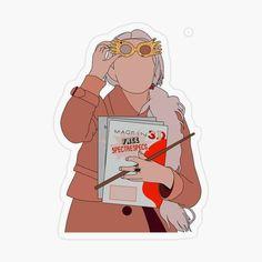 Buy 'Luna Lovegood' by oliviarosa as a Transparent Sticker. Harry Potter Drawings, Harry Potter Pictures, Harry Potter Fan Art, Preppy Stickers, Cute Stickers, Stickers Harry Potter, Imprimibles Harry Potter, Harry Potter Background, Desenhos Harry Potter