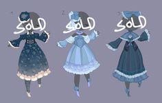 Blue dress adopts [CLOSED] by MantaTheMisukitty.deviantart.com on @DeviantArt