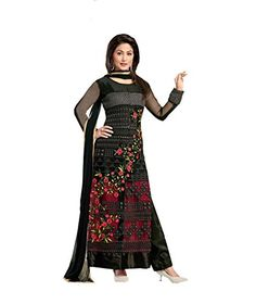 Khazanakart Exclusive Black Colour Georgette Fabric And S...…