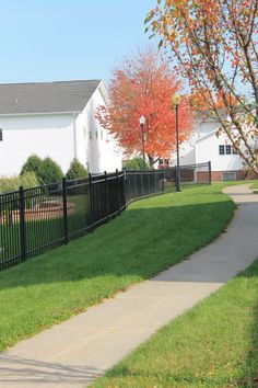 Path from side of  Intersection (youth building) and the main church building.