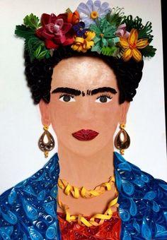 Made by Frida Muñoz Quilling Frida Kahlo
