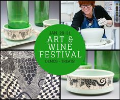 The Art & Wine Festival will be so fun! It starts Friday, Jan. 29 and goes through Sunday, Jan. 31.