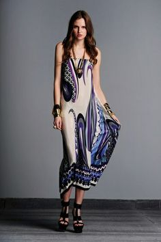 ALEXIS Miah Silk Long A-Line Convertible Elastic Waistband Skirt/Dress