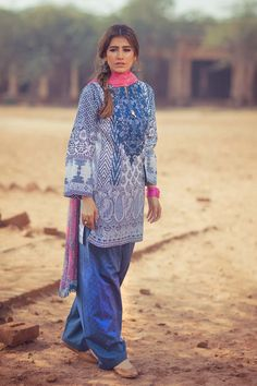 Zara Shahjahan in Noor Bano Lawn 2016 Pakistani Fashion Casual, Pakistani Dresses Casual, Pakistani Dress Design, Asian Fashion, Casual Dresses, Nice Dresses, Casual Outfits, Summer Outfits, Summer Dresses