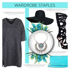 """""""Wardrobe Staple: T-Shirt Dress"""" by antemore-765 ❤ liked on Polyvore featuring Topshop, Michael Kors and Sole Society"""