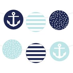 Free Printable Nautical Garland | via @chicfettiwed  #wedding #freeprintable