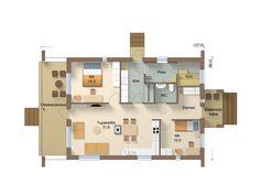 86-10M - Jukkatalo Floor Plans, Floor Plan Drawing, House Floor Plans