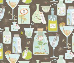 Creepy Cocktail Hour fabric by kayajoy on Spoonflower - custom fabric