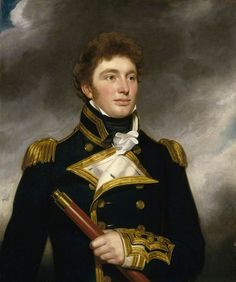 """— Commander or Captain John Walter Roberts- attrib. Samuel Lane """"Roberts entered the Navy in 1804 as a volunteer in the 'Medusa' commanded by his uncle Sir John Gore, under whom he. Old Portraits, Portrait Art, Royal Navy Officer, Man Of War, Maritime Museum, Art Uk, Military History, Victorian Portraits, Victorian Paintings"""