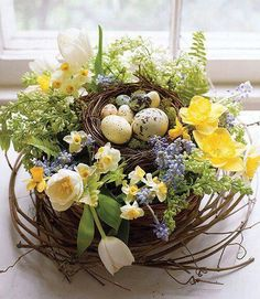 Wonderful Easter Decoration Ideas For Your Inspiration; Easter Table Decoration Ideas With Egg And Bunny; Easter Flower Arrangements, Easter Flowers, Spring Flowers, Floral Arrangements, Easter Centerpiece, Centerpiece Ideas, Fresh Flowers, Spring Bouquet, Silk Flowers