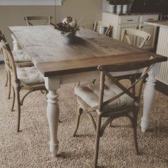 gorgeous handmade rustic farmhouse table by ModernRefinement on Etsy https://www.etsy.com/listing/248714969/gorgeous-handmade-rustic-farmhouse-table