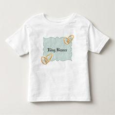 Teal Wedding Ring Bearer Toddler T-shirt