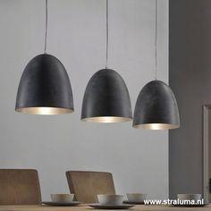 Hanglamp 3L 3 Kappen Eettafel - www.straluma.nl