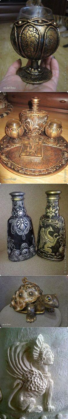 Восхитительные работы в технике Пейп-арт с мозаикой из яичной скорлуп | Декор бутылок | Постила