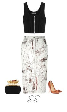 Untitled #246 by shaiqspere on Polyvore featuring polyvore fashion style T By Alexander Wang John Galliano Christian Louboutin Alexander McQueen clothing