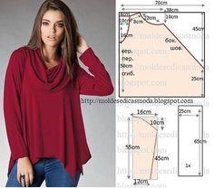 """esta blusa fácil de ocultar la panza y los """"rodillos"""" en los laterales."""