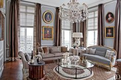 Parisian Apartments and Homes - French Decorating Ideas Photos | Architectural Digest