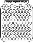 """use a die or cards and bingo markers, students turn over a card or roll the die and use the bingo marker to cover that many """"gumballs"""""""
