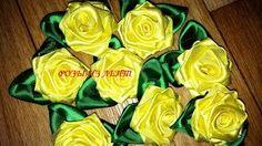 цветы из ленточек своими руками - YouTube