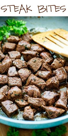 The simple marinade ingredients for these incredible Steak Bites turn plain steak into something really delicious and full of flavor!