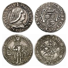 Teston of the Milanese Duke Ludovico Sforza and guldiner of the Tyrolean Archduke Sigismund Archduke, Coin Art, Gold And Silver Coins, World Coins, Coin Collecting, Personalized Items, Roman Art, Coining, Artists