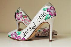 #handpaintedweddingshoes #hibiscus