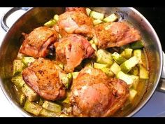 Pollo con Chayote - Receta - YouTube