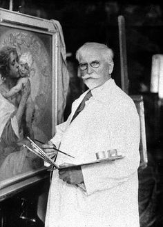 Alphonse Mucha at work