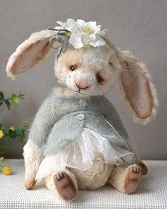 """AUTUMN, WINTER, SPRING AND SUMMER ~ """"The seasons are what a symphony ought to be: four perfect movements in harmony with each other. Needle Felted Animals, Felt Animals, Hoppy Easter, Easter Bunny, Some Bunny Loves You, Teddy Toys, Cute Teddy Bears, Bear Doll, Felt Art"""