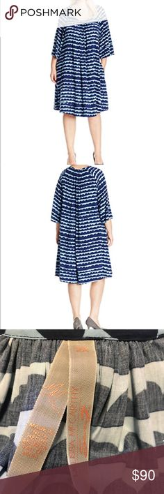 "Melissa McCarthy Cloud dress Never worn super cute well made swing dress. I love this dress, but it was just too long for my 5'3"" frame. This would look great on a taller person. Bell sleeves and bottom of dress finished with a cute cuff like hem. Melissa McCarthy Seven7 Dresses Midi"