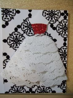 Dress Form Cards   Dress Form Silhouette Cards - Two Peas in a Bucket