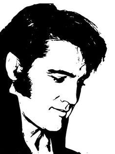 Stencil Art, Stencils, Tattoo Silhouette, Elvis Tattoo, Elvis Presley Photos, Wood Burning Patterns, Scroll Saw Patterns, Airbrush, Pyrography