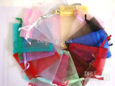 Wholesale 9X12cm Multi Colors jewelry gift pouch wedding organza bags Wedding Favor Party, Free shipping, $0.05-0.07/Piece | DHgate